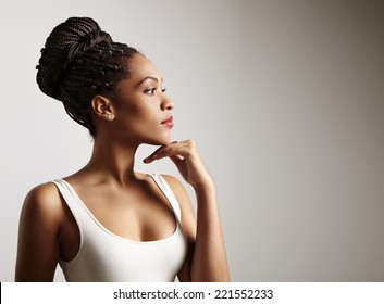 black woman profile