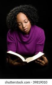 Black Woman Reading Bible