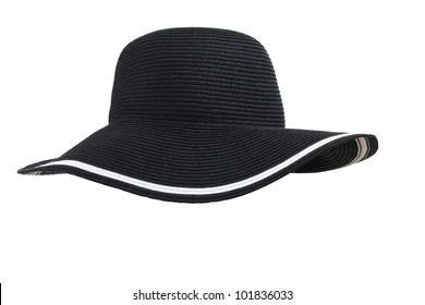 black woman's hat isolated on white background