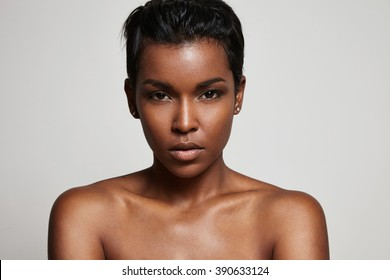 black woman's portrait closeup
