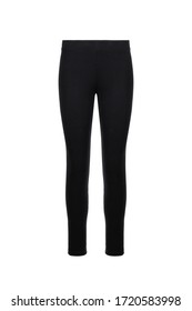 Black women's sport pants on an isolated background. Cloth pants design presentation