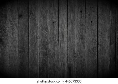 Black wood background. Retro wallpaper