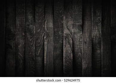 Black wood background or texture