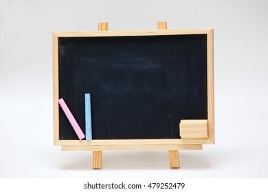 Black wood frame,boarding school,blackboard.