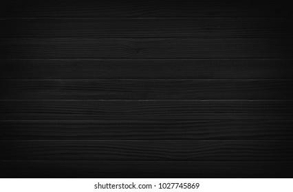 Black wood plank texture. Dark wooden background