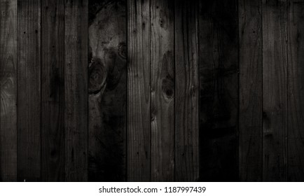 black wood texture background Or the old wooden panel black wood pattern that looks beautiful.