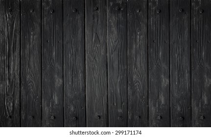 Black wood texture. background old panels in high detailed photo