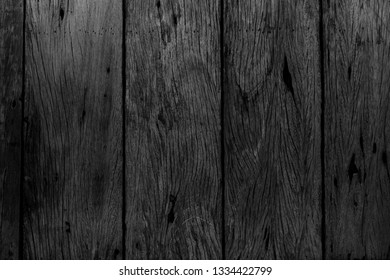 Black wood texture for design and background.