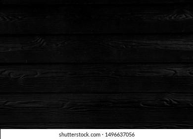 black wood wall, black horizontal wood planks, plank texture