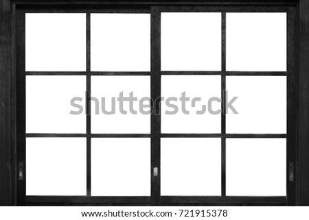Black Wood Window Frame Isolated On Stock Photo (Edit Now) 721915378 ...
