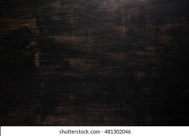 Black wooden background, copy space