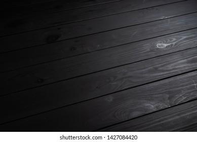 black wooden background,  natural texture
