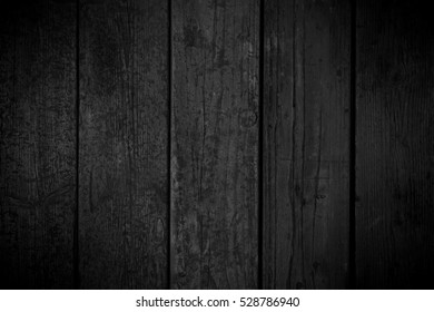 black wooden background or wood grain texture
