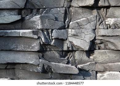 Black  wooden blocked background