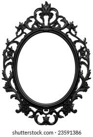 Black wooden frame for mirror or portrait