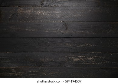 black wooden table texture background