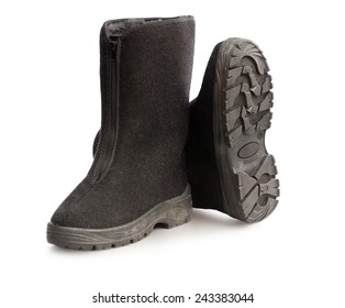 Black working hight boots
