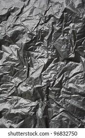 black wrinkled plastic bag for background