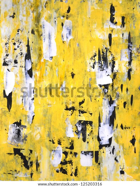Black Yellow Abstract Art Painting Stock Photo Edit Now