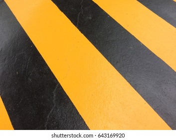 Black and yellow paint floor texture pattern background