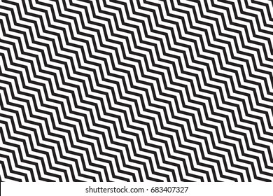 black zig zag pattern. Abstract geometrical simple image background.