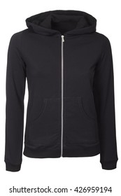 Black zipped hoodie