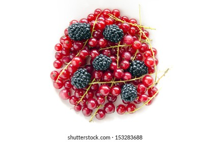 Blackberries and currants