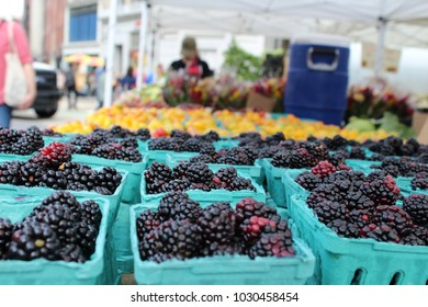 blackberries in farmers market