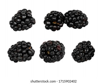 BlackBerry isolated on white background