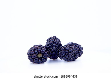 blackberry isolated on white background. Vegan food, detox concept