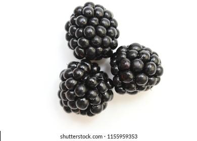 Blackberry on white background