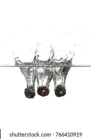 blackberry water splash