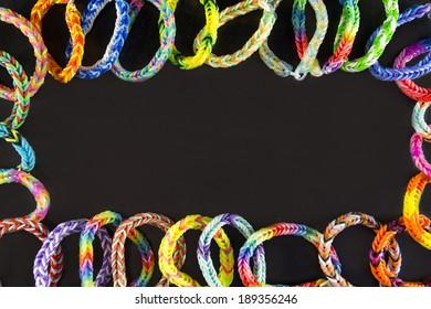 blackboard background rubber bracelets