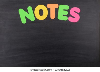 blackboard background for taking note reminders colorful lettering