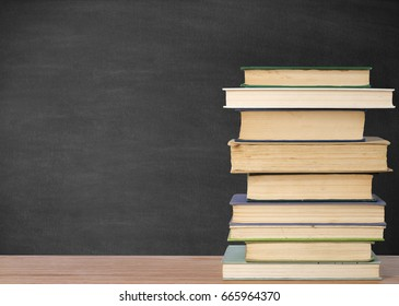 Blackboard and books
