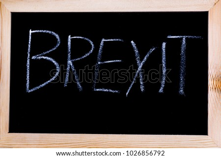 Blackboard with Brexit written on it