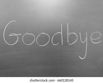 Blackboard with Bye