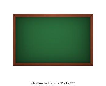 Blackboard in the classroom