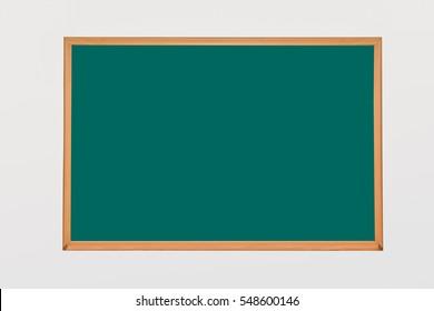 Blackboard of classroom green on isolated background