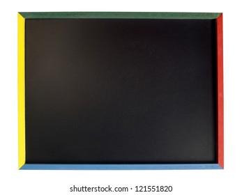 Blackboard with colorful quadrant sides