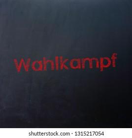 "Blackboard Election Campaign german ""Wahlkampf"""