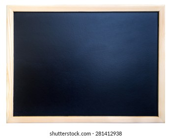 blackboard with frame isolated on white