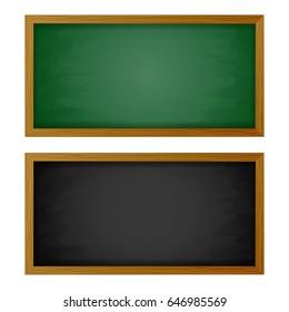 Blackboard and green.vector illustrations