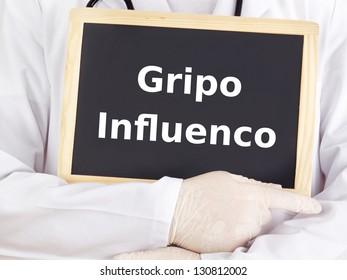 Blackboard: Influenza : Esperanto language