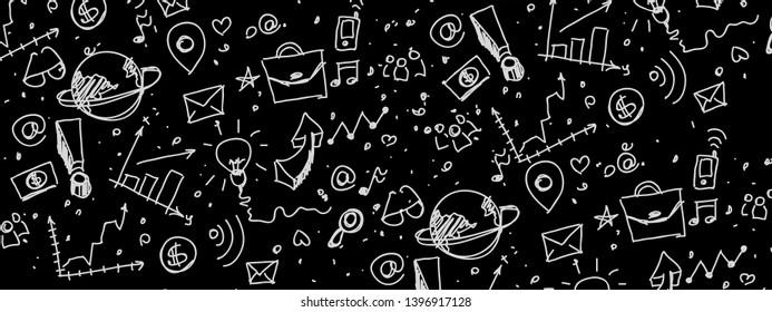 Blackboard inscribed with scientific formulas