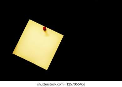 Blackboard memo,Yellow memo paper on blackbord.