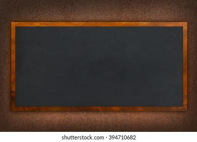 blackboard on metal wall
