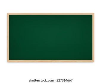 Blackboard on white background.