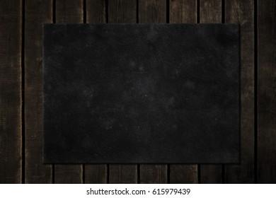 Blackboard on wood. Chalkboard
