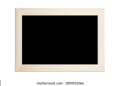 Blackboard or photo wood frame isolated on white background, clipping path.